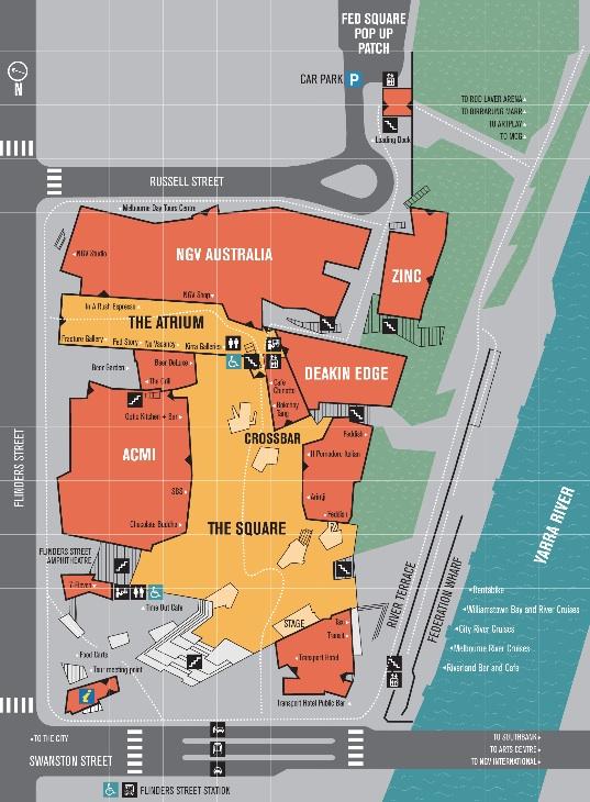 Federation Square Map Federation Square Map | Tim Dreese's Travel Log & Design Journal
